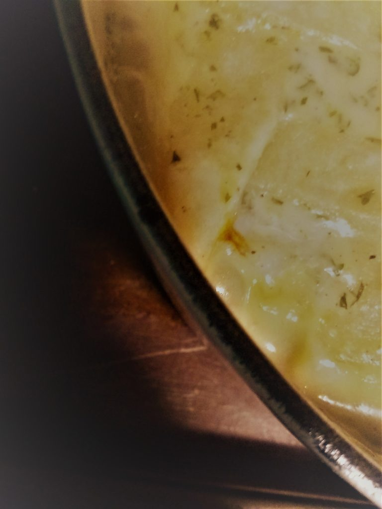 fish pie - baked