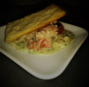 fish pie on plate